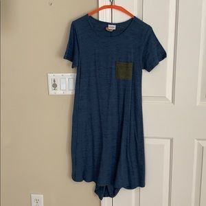 Blue and green Carly dress